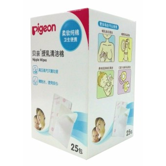 Pigeon Nipple Wipes 25's