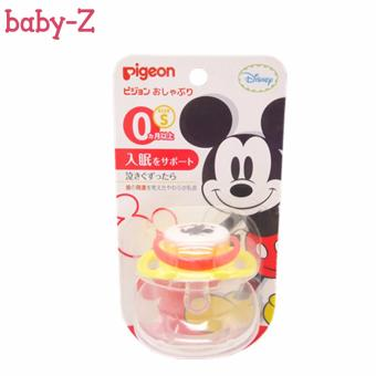Pigeon Pacifier Baby Silicone Nipple Mickey Full Range (Red) 0-Months S