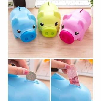 PIGGY BANK - Money Box For Saving Coins & Cash Fun Gift PlasticNovelty Pig Safe - intl - 2