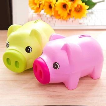 PIGGY BANK - Money Box For Saving Coins & Cash Fun Gift PlasticNovelty Pig Safe - intl - 5