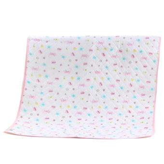 Pink Baby Changing Pad Eco Cotton Infant Waterproof Cover PrintedUrine Mat S