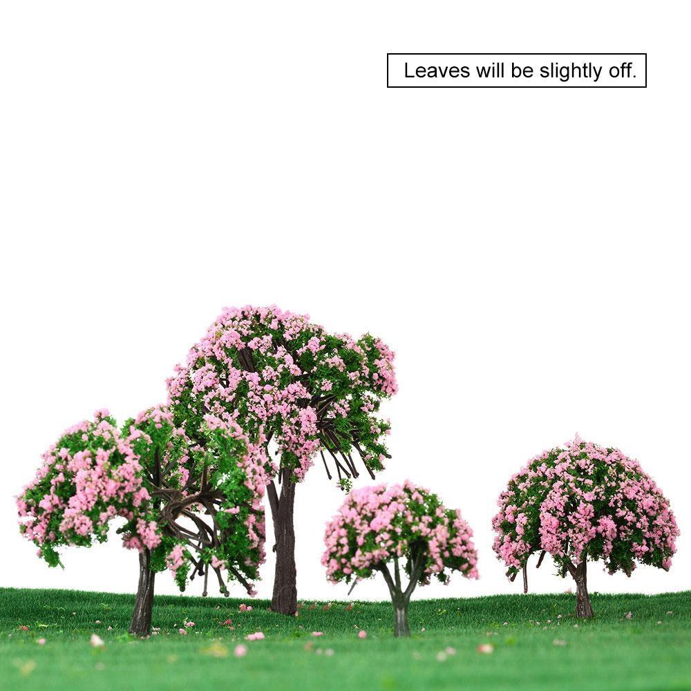 Philippines | Pink Plastic Model Trees Train Layout Garden
