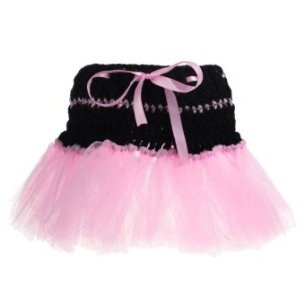 Pink TuTu Skirt Baby Girls Newborn Knit Crochet Costume Infant Photo Prop Outfit - Intl