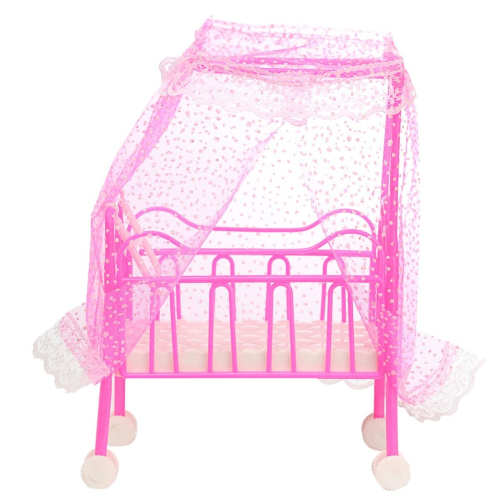 Philippines Plastic Baby Bed Miniature Dollhouse Toy Bedroom