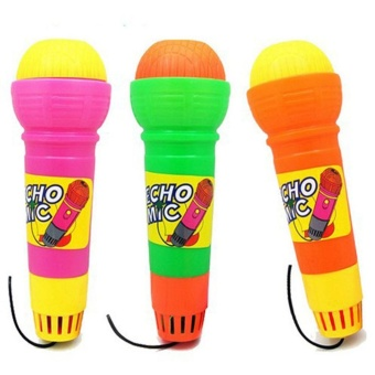 Plastic Magic Mic Novelty Echo Microphone Pretend Play Toy Gift for Children Random Color - intl