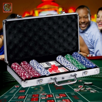 Poker Chip Set 300's Poker Game Aluminum Case