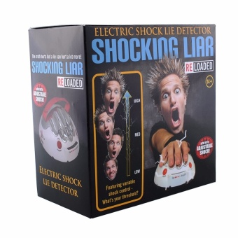 Polygraph Shocking Liar Micro Electric Shock Lie Detector Truth Game Toy High/low Shock Setting LED's to Indicate - intl