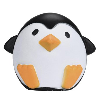 Portable Soft Kawaii Artificial Squishy Penguin Shape Cream ScentedSuper Slow Rising Simulation Relieves Stress Anxiety Toy forChildren Adults Anxiety Attention - intl