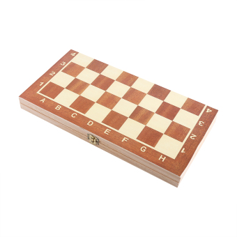 Portable Wooden Chessboard Chess Set Folding Board Chess Game For Party Family Activities - intl