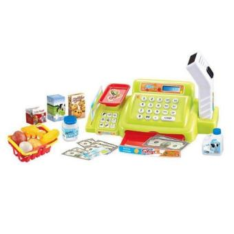 Pretend and Play Happy Little Shopping Cash Register Toy Set(Green) NO. 888A