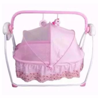 Primi Pretty in Blue Soothing Motions Baby Cradle Swing