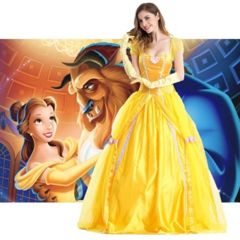 Princess Dress Adult Women Beauty and The Beast Belle MasqueradeCostumes Halloween Clothing Size M - intl Price Philippines