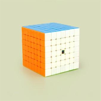 Professional 7x7 Stickerless Brain Teaser Twisty Puzzle Competition Magic Speed Cube True Color - intl