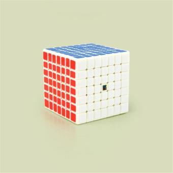 Professional 7x7 Stickerless Brain Teaser Twisty Puzzle Competition Magic Speed Cube White - intl