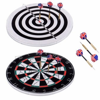 Professional Dart Board Double Sided 18inches with 6 Dart Pins