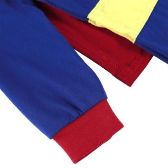 Promotion Sunwonder Superman Suit Fancy Dress SuperHero Costume Jumpsuit for Baby Toddler Kid Boy Romper Gift - intl - 4