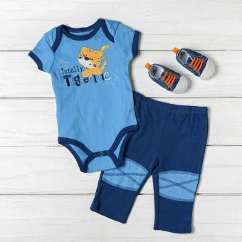 Pure Baby Boys Totally Tigerific Onesie Set (Blue) Price Philippines