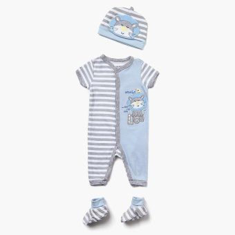 Pure Boys Lion Bodysuit Set (Gray) Price Philippines
