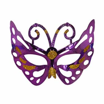 Purple Butterfly Masquerade Mask Costume Accessory