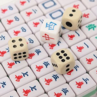 PUZ Mini 144 Mahjong Tile Set Chinese Traditional Game Travel Outdoor Play - intl - 4