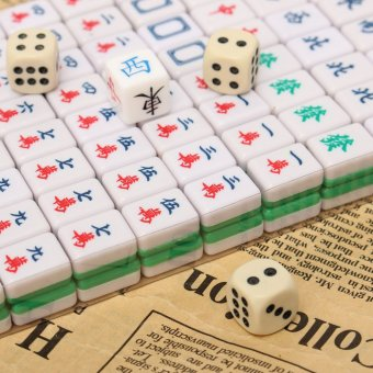 PUZ Mini 144 Mahjong Tile Set Chinese Traditional Game Travel Outdoor Play - intl - 5
