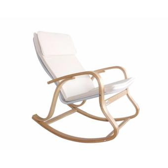Qube Flotti Kota Rocking Chair (Color: Beige)