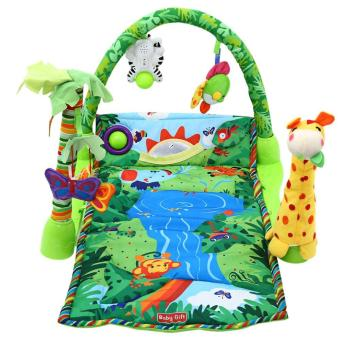 Rainforest Musical Baby Infant Activity Gym Floor Crawl Play Mat Bedding - intl