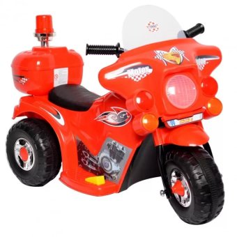 Rechargeable electric three-wheeled motorcycle children ride-ontoys(Red)