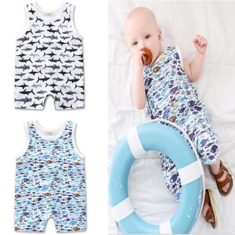 Retail 2017 New Summer Fashion baby boys clothes set sleevelessNewborn baby Romper vest jumpsuit for 0-24M - intl Price Philippines