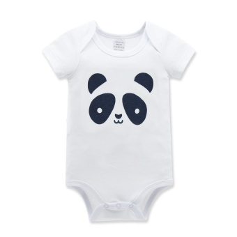 RHS Newborn Kids Infant Baby Boys Girls Summer Romper JumpsuitBodysuit Outfits Clothes(Panda) - intl