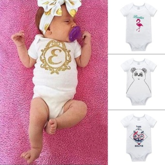 RHS Newborn Kids Infant Baby Boys Girls Summer Romper JumpsuitBodysuit Outfits Clothes(Panda) - intl - 2