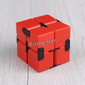 Rising Star High Quality Magic Infinity Cube For Anti Anxiety Stress (Red)