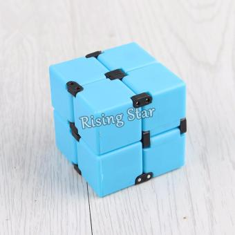 Rising Star High Quality Magic Infinity Cube For Anti AnxietyStress (Blue)