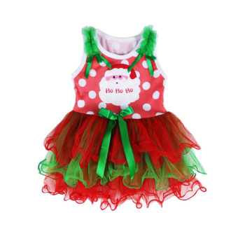 Rorychen Baby Girls Christmas Sleeveless Dress Lace Ball Gown - picture 2