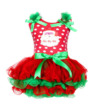 Rorychen Baby Girls Christmas Sleeveless Dress Lace Ball Gown