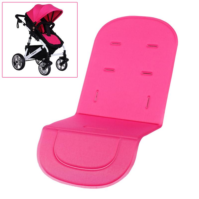 Rose Washable Soft Stroller Pushchair Car Seat Padding Pram Liner Pad Cushion - Intl