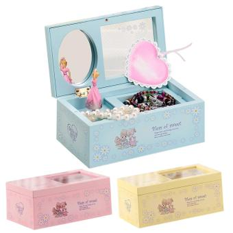 Rotating Music Box Mirror Ballet Jewelry Music Box (Blue) Price Philippines