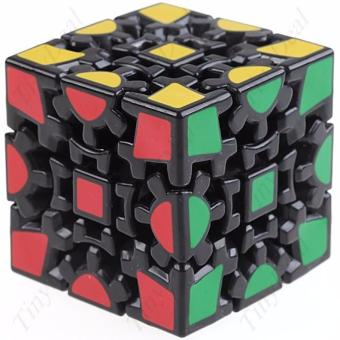 Rubik's Gear Cube Brain Teasers Speed Magic Cube Puzzles Black BodyNo. 689