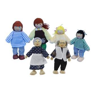 S & F 4pcs wooden dolls (Intl)