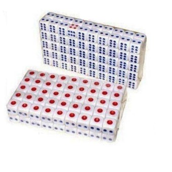 S & F Standard Plastic 10mm Game White Dice Die (Intl) - picture 2