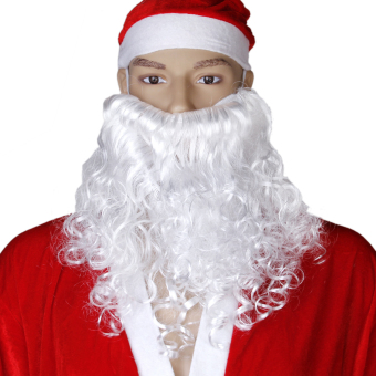 Santa Christmas Dress Up White Curly Beard - picture 2