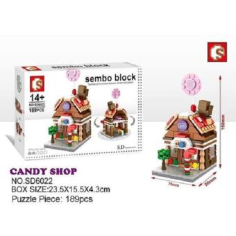 Sembo Block No. SD6022 Sweets Candy Store Building Toy(189 PCS)