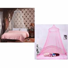 SET OF 2 Durable Baby Mosquito Net Toddler Bed Crib Canopy Netting Color