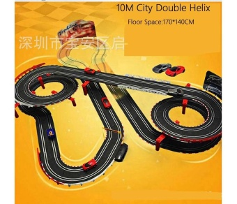 Sets of 10M Track Length Double Helix Speed Slot Racing Track TrackRacing Box Train Track Racing Car Baby Toy - intl