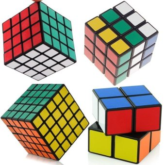 shengshou Black Cube Puzzle Bundle Pack,2x2x2,3x3x3,4x4x4,5x5x5Set,Speed Cube Collection, Magic Cube Set Magic Cube Rubiks RevengePuzzle - intl