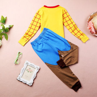 Sheriff Woody Costume Boys Sleepwear Baby Kids Cotton Pajamas 2pcsset 1~7Y - 3