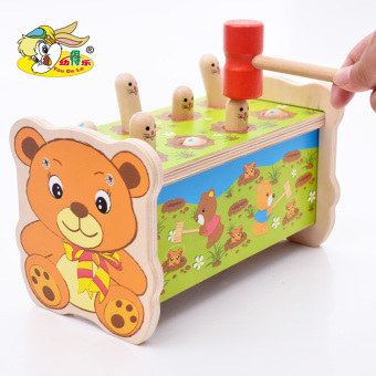 Shuangchui wooden children's Yi Zhi percussion toys to play to the mouse