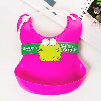 Silicone Baby Bibs Waterproof Eco Rubber Bib for toddlers - Purple - 5