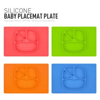 Silicone Placemat Plate Big Rectangular (GREEN) - 5