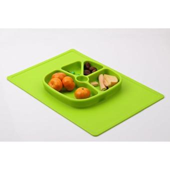 Silicone Placemat Plate Big Rectangular (GREEN) - 3